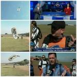 Vídeo | Repórter da Rede Globo faz salto duplo usando paraquedas com a marca da BraZip