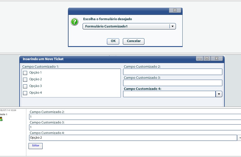 Customizacao de Formularios de Help Desk