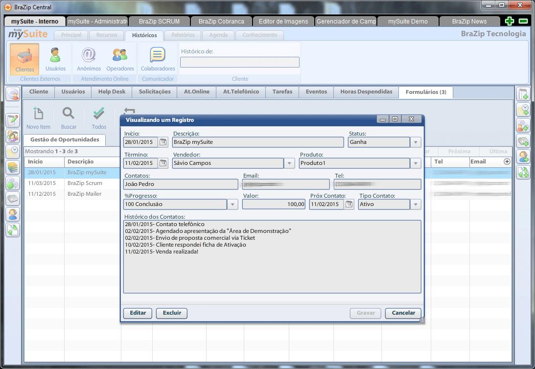 Dicas de Uso mySuite: Customização de Formulários Internos