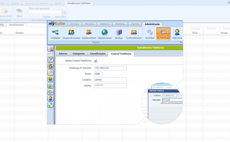 Dicas de Uso mySuite: Integração com Central Telefônica